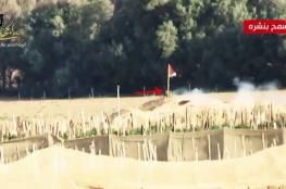 شاهد: ألوية الناصر تنشر فيديو حول عملية كمين العلم 2 على حدود غزة