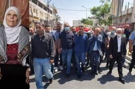 تشييع المناضلة فاطمة الجعفري بجنازة عسكرية في مخيم الدهيشة