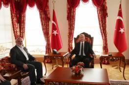 تفاصيل لقاء هنية والرئيس التركي اردوغان في اسطنبول..