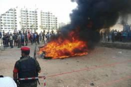 صور : وزارة الداخلية بغزة تتلف مخدرات بقيمة مليون دولار