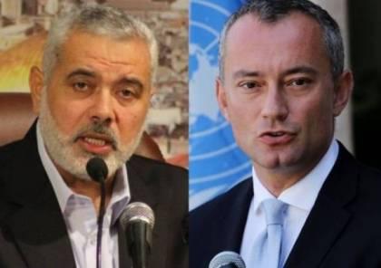 حماس تكشف تفاصيل لقاء رئيس مكتبها السياسي هنية وملادينوف بشأن الانتخابات..