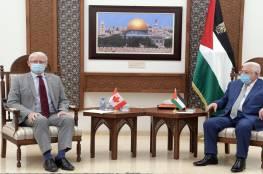 تفاصيل اجتماع الرئيس مع وزير الخارجية الكندي: ضرورة الإسراع في عملية إعادة اعمار غزة