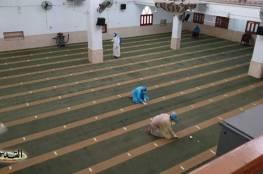 صور : استعدادات بغزة لفتح المساجد غدًا الجمعة