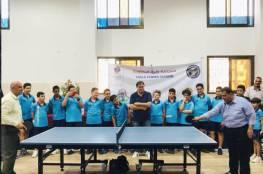 الجزيرة يفتتح أول مدرسة لكرة الطاولة في القطاع للناشئين