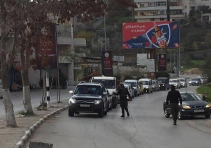بيت لحم: القوة الأمنية المشتركة تنظم جولات مركزة للتأكيد على الإغلاق