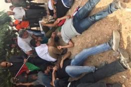 إصابات بالغاز في تفريق الاحتلال لمسيرة بالخان الأحمر