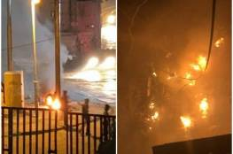 فيديو: إحراق كاميرات مراقبة تابعة للاحتلال في بلدة سلوان