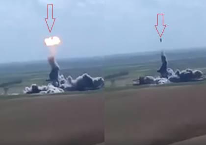 """شاهد الفيديو : """"داعشي"""" يطير في الهواء ثم ينفجر !"""