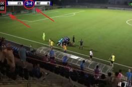 بالدقيقة (120+4) ..شاهد سيناريو خيالي لتسديدة صاروخية من قبل منتصف الملعب لتغير مجرى المباراة