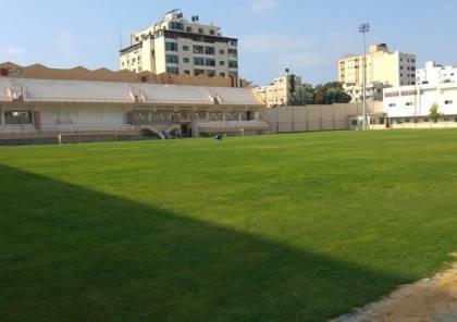 انتهاء المرحلة الأولى من إعادة إصلاح ملعب فلسطين