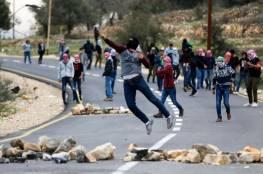نابلس: إصابة شاب بعياري ناري خلال مواجهات شهدتها قرية سالم