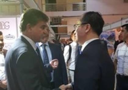 السفير عبد الهادي يشارك بافتتاح معرض دمشق الدولي