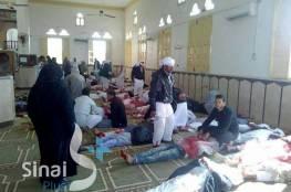 فيديو وصور مرعبة .. ارتفاع عدد ضحايا مذبحة مسجد العريش إلى 300 شهيد و130 جريحا