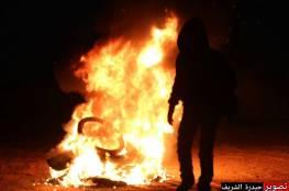 بالصور.. اصابات خلال قمع الاحتلال لفعاليات الارباك الليلي شرق رفح
