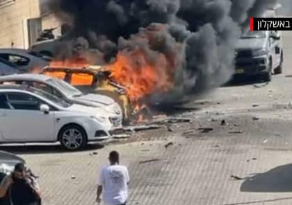 عشرات الصواريخ تسقط على بئر السبع وعسقلان وأسدود