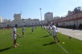تواصل تدريبات المنتخب الأولمبي في غزة