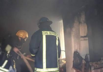 الدفاع المدني يخمد حريق بشقة في جنين