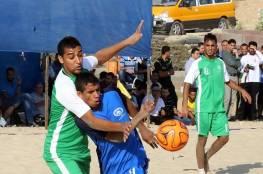 فوزان للصداقة وغزة الرياضي بافتتاح الشاطئية