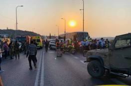 شاهد: مصرع 4 مواطنين في حادث سير شرق قلقيلية