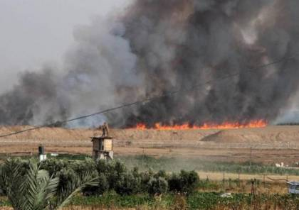 بعد توقف منذ ما يزيد عن 7 أشهر.. حريقان في غلاف غزة بفعل إطلاق بالونات حارقة