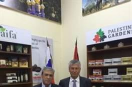 افتتاح جناح فلسطين الدائم للمنتوجات الفلسطينية بروسيا