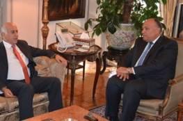 الخارجية المصرية تكشف عن تفاصيل اجتماعها بجبريل الرجوب