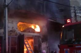 السيطرة على حريق في منزلٍ بغزة