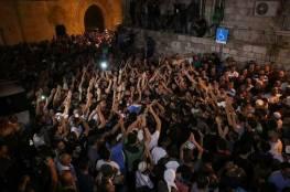 بالفيديو .. فلسطينيون يحتفلون بإزالة الاحتلال للبوابات الحديدية والكاميرات في باب الأسباط