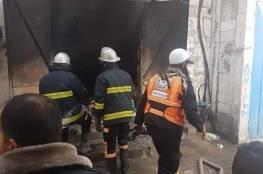 السيطرة على حريق في مستودع بخان يونس