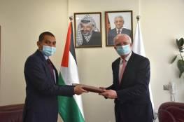 المالكي يتسلم نسخة من أوراق اعتماد ممثل الهند لدى فلسطين