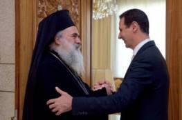 المطران عطا الله حنّا زار سوريّة والتقى الرئيس الأسد