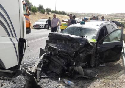 5 اصابات في حادث سير شرق قلقيلية