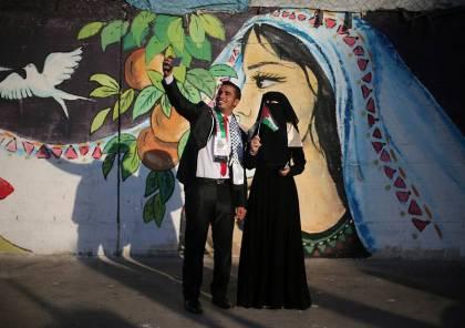 صور: حماس تقيم حفل زفاف جماعي لـ 200 عريس وعروس جنوب قطاع غزة