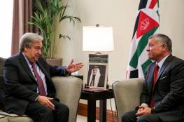 العاهل الأردني لـ غوتيريس: الممارسات الإسرائيلية الاستفزازية قادت إلى التصعيد والتوتر