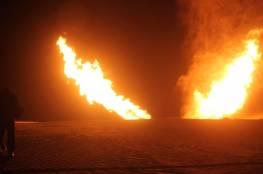 مسلحون يفجرون خط الغاز الرابط بين مصر واسرائيل شمال سيناء..