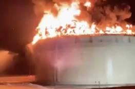 """بالفيديو: هذا ما أصاب المستوطنين اثناء قصف خزان الوقود الاستراتيجي خلال معركة """"سيـف القـدس"""""""