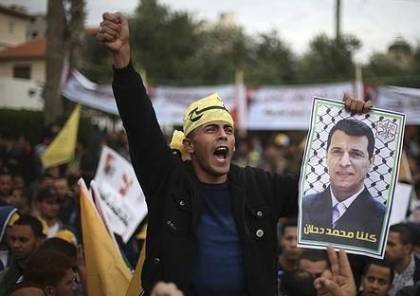غزة: المئات من انصار دحلان يشاركون في مسيرة دعما له وللمصالحة المجتمعية