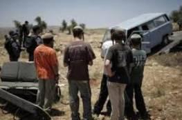 مستوطنون يتجمهرون جنوب بيت لحم تحت حماية قوات الاحتلال