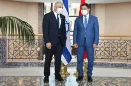 """لبيد يجتمع بنظيره المغربي: """"آفاق واعدة للتعاون بين تل أبيب والرباط"""""""