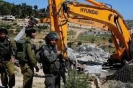 الاحتلال يهدم منشأة زراعية في بلدة السموع جنوب الخليل