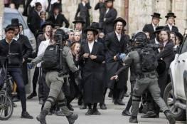 اعتقال 10 متدينين يهود لضربهم عناصر الشرطة بالعصى!