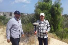 وزارة الاقتصاد وسلطة الأراضي تجريان مسحاً ميدانياً لمقالع الرمال في غزة
