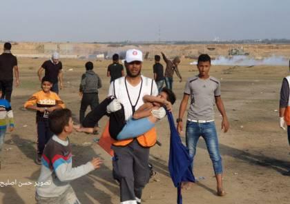 69 اصابة بينها حرجة للغاية بمسيرات العودة شرق قطاع غزة