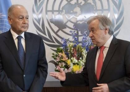 أبو الغيط يبحث مع غوتيريش آخر مستجدات القضية الفلسطينية
