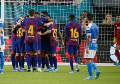 فيديو.. برشلونة يفوز ودياً على نابولي بهدفين لهدف