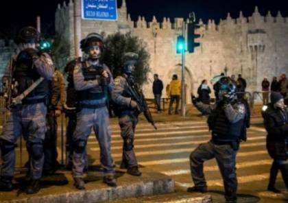 الاحتلال يعتدي على شبان قرب باب العمود