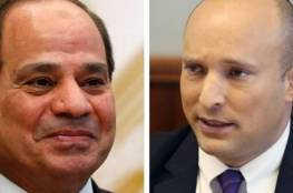 """هذا ما تم بحثه.. بينت يصف لقائه بالرئيس المصري بـ""""المهم جداً"""""""