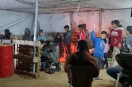 النقب: خيمة لإيواء أسرة بعد هدم مسكنها من قبل جرافات الاحتلال في خربة الوطن
