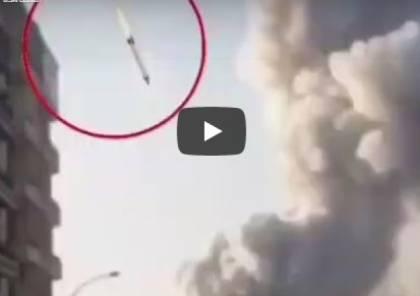 """حقيقة الصاروخ الذي شوهد لحظة انفجار """" مرفأ بيروت """""""