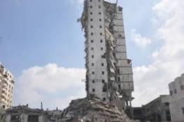 غزة: وزير الأشغال يعلن البدء الفوري في إعادة إعمار البرج الإيطالي